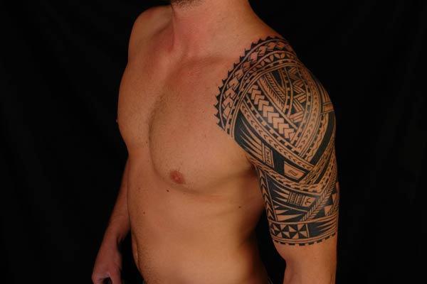 Hawaiian Half Sleeve Tattoo Designs