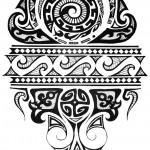 Desenho de Tatuagem Maori.