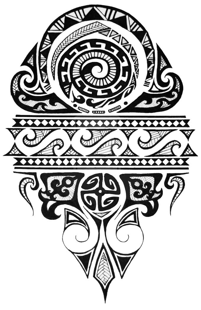 Desenho de Tatuagem Maori.