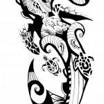 Rascunho de Tatuagem Maori.