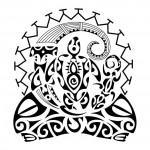 Modelo de Tatuagem Maori em tribal.
