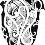 Modelo de Tatuagem Maori para braço e ombro.