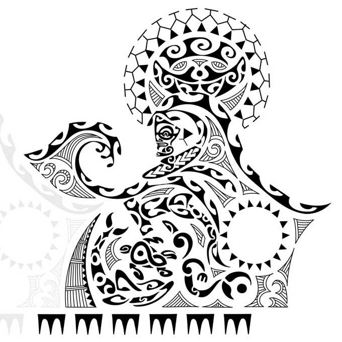Rascunho de Tattoo Maori.