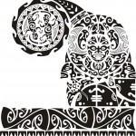 Desenho pronto de Tattoo Maori.