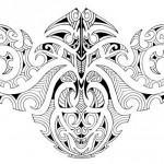 Modelo assimétrico de Tattoo Maori.